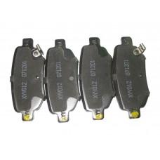 Колодки тормозные задние Chery Eastar B11-3502080BA