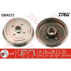 Барабан тормозной со ступицей (без ABS) Daewoo Lanos_Sens TRW DB4272-TRW